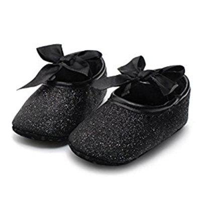 Koly Newborn Baby Anti-slip Soft Bottom Prewalker Shoes Glitter Party First Walking Shoes