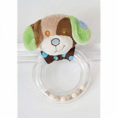 Blue Dog Ring Rattle by Douglas Cuddle Toys