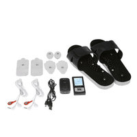 Creative Sourcing International PCH Digital Pulse Massager 3 - Shoe Combo Set with AB Unit Black