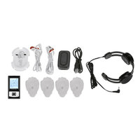 Creative Sourcing International PCH Digital Pulse Massager 3 - Neck Combo Set with AB Unit Black