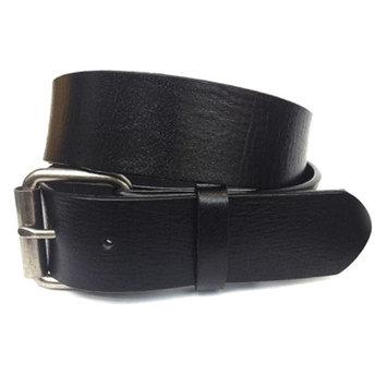 Men's Simple Yet Stylish Genuine Leather Belt Strap in Black, Size 32