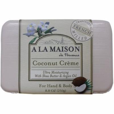 4 Pack - A LA MAISON Coconut Creme Soap 8.8 oz