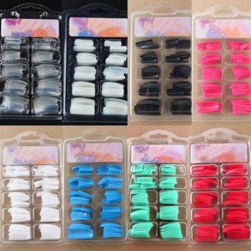 100Pcs DIY Acrylic Gel French Nail Art Colored French Tips False Nail Tips