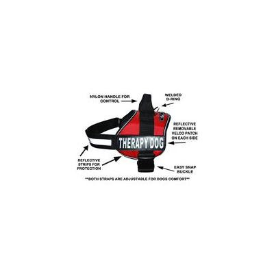 Therapy Dog Harness Service Working Vest Jacket Removable Velcro Patches,Purchase Comes 2 Therapy Dog Reflective pathces. Please Measure Dog Before Ordering. (Girth 30-42