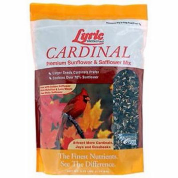 Lyric 18 LB Cardinal Wild Bird Food Contains Black Oil Sunflower