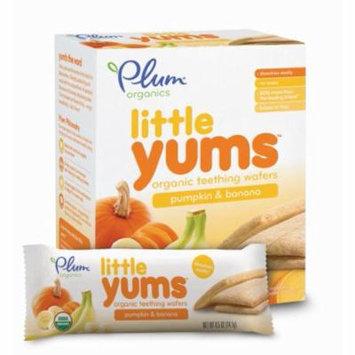 Plum Organics Little Yums Pumpkin Banana Teething Wafers (Pack of 20)