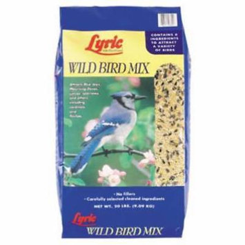 Lyric 20 LB Wild Bird Food Mix All Seed Eating Birds Are Attracted