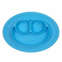 Wrapables® Silicon Placemat + Plate for Baby, Suction Divided Food Plate, Blue