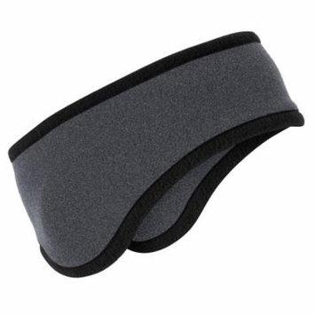 Port Authority C916 Two-Color Fleece Headband, Midnight Heather, OSFA
