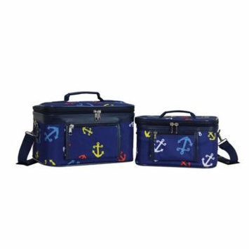 World Traveler Anchor Blue 2-Piece Train Cosmetic Case Set