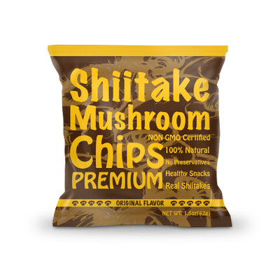 R.i.t. Co. Inc Yuguo Farms Shiitake Mushroom Chips, 1.5 oz, 3 pack, Original Flavor