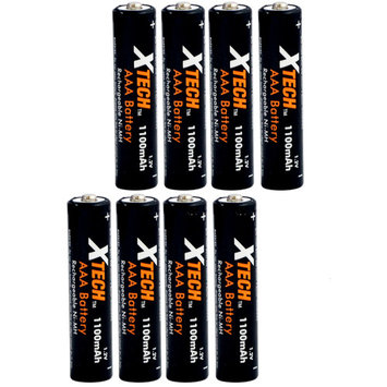 Xtech AAA Ultra High-Capacity 1100mah Ni-MH Rechargeable Batteries (8 pack)