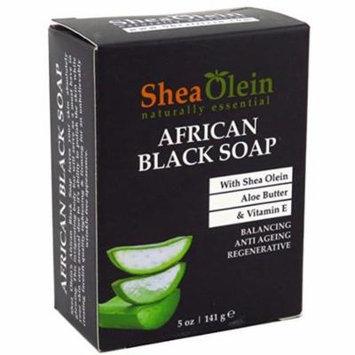 2 Pack - Shea Olein Soap African Black 5 oz