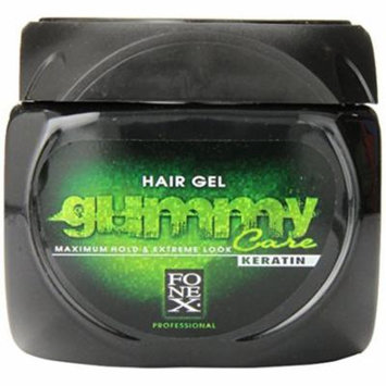 3 Pack - Gummy Hair Gel Maximum Hold Extreme Look Keratin 23.5 oz