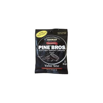 5 Pack Pine Bros. Softish Throat Drops Value Pack, Licorice Flavors 32 each