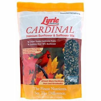 2PK Lyric 3.75 LB Cardinal Wild Bird Food Contains Black Oil Sunflower