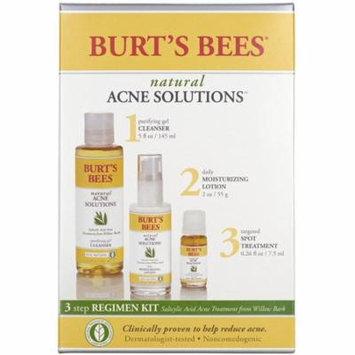 2 Pack - Burt's Bees Natural Acne Solutions 3 Step Acne Regimen Kit 1 Each