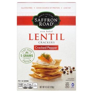 American Halal Company, Inc. Saffron Road, Cracker Lentil Crckd Pepr, 4.5 Oz (Pack Of 6)