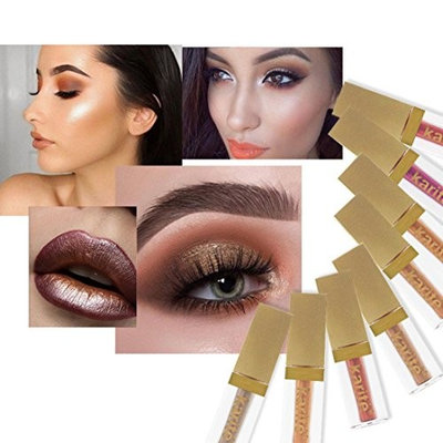YOYORI Eye shadow,8 Colors Eyeshadow Liquid Waterproof Glitter Eyeliner Shimmer Makeup Cosmetics for Professional Makeup or Daily Use (B)