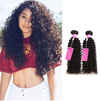 ISEE Hair Unprocessed Peruvian Virgin Curly Hair Extensions 3 Bundles 100% Real Peruvian Remy Human Hair Weave 8A Grade Natural Black Color Full Head 10inches