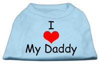 Mirage Pet Products 5134 LGBBL I Love My Daddy Screen Print Shirts Baby Blue Lg 14