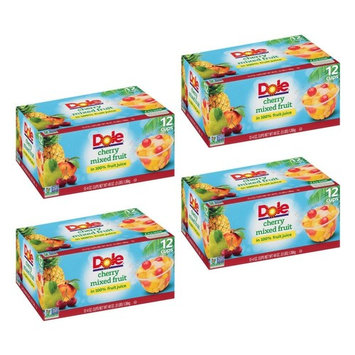 Dole Fruit Bowls, Peaches Mandarin Oranges and Cherry Mixed Fruit, 4 Ounce, 12 Count (4 Pack)