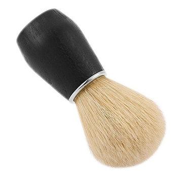 SODIAL(R) Men's Shaving Hair Brush With Wood Handle Men Shaving Tool for Razor,black & beige