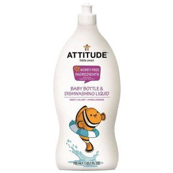 ATTITUDE, Little Ones, Baby Bottle & Dishwashing Liquid, Sweet Lullaby, 23.7 fl oz (700 ml) [Scent : Sweet Lullaby]