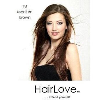 HairLove Elite Clip In Hair Extensions, 21 Clips, 150g (#6 Medium Brown) (22