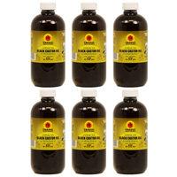Tropic Isle Living Jamaican Black Castor Oil 8oz 'Pack of 6' w/Free applicator