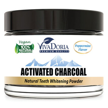 Viva Doria Activated Charcoal Tooth Whitener (1.5 oz glass jar)