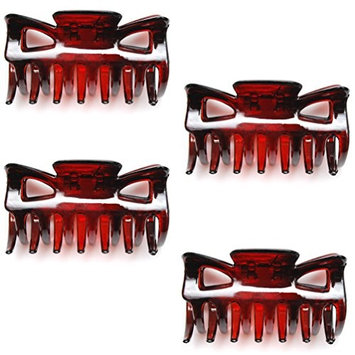 Luxxii - (4 Pack) Vintage Mini Light Weight Plastic Hair Jaw Claw Clip 2.25
