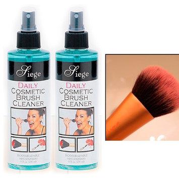 2 Bottles Cosmetic Brush Spray Cleaner Make Up Disinfectant 8 Oz Liquid Cleanser