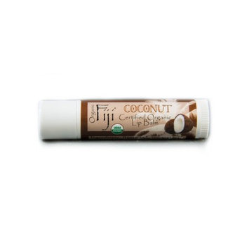 Organic Fiji Lip Balm, Coconut, 0.15 Oz