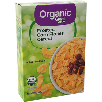 Great Value Organic Breakfast Cereal, Frosted Corn Flakes, 15 Oz