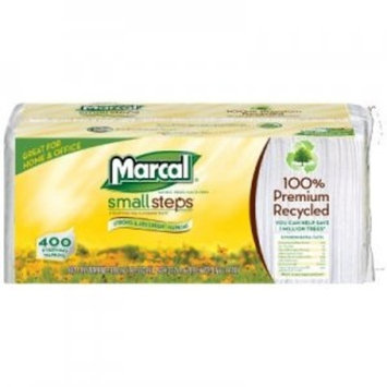 Marcal Lunch Napkins, 100% Recycled Disposable Paper Napkins - Single-Ply, Pack of 400 In a Convenient Draw & Store Resealable Bag 06506