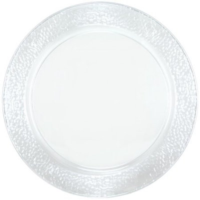 Lillian Caterware, Pebbled Round Serving Tray, Clear, 13.5', 2 Ct