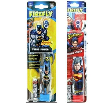 Firefly Batman and Superman Power Toothbrush 2 pack