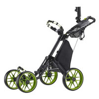 Caddy Tek CaddyTek One-Click Folding 4 Wheel Version 3 Golf Push Cart, Lime