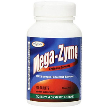 Enzymatic Therapy Mega-zyme, 200 Tablets Pack of 3