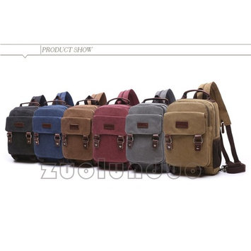 Fancynova Casual Cool Sport Travel Multi-Use Canvas Backpack and Cross-body Bag for Men and Women and Couple, Brown