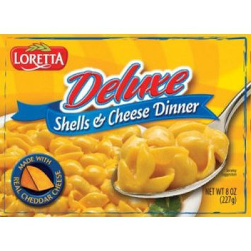 Loretta 1134 Deluxe Nacho Cheese & Shells Dinner Case Of 12