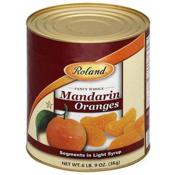 Roland Mandarin Oranges Segments in Light Syrup, 105 oz, (Pack of 6)