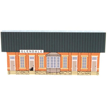 Cats Meow GLENDALE TRAIN STATION Wood Exclusive CSTM4369