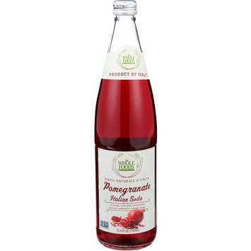 Whole Foods Market, Pomegranate Italian Soda, 25.4 fl oz