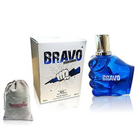 BRAVO PERFUME for MEN, 2.8 fl oz - 85 ml, EDT VERSION of DIESEL ONLY THE BRAVE by MIRAGE BRANDS With a NovoGlow Pouch Included