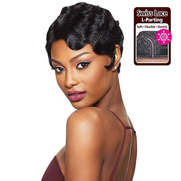 Outre Remy Human Hair Lace Front Wig Velvet Swiss Lace L Part Finger Wave