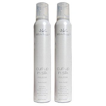 White Sands Curl Up in Silk Firm Hold Mousse 7 oz (Set of 2)