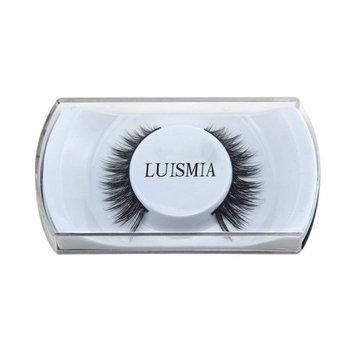 ELVASEN Handmade 3D luxurious 100% Real Mink Natural Long Cross False eyelashes - Reusable Makeup Crisscross Fake eye lashes Extension- Eyelash Strips...