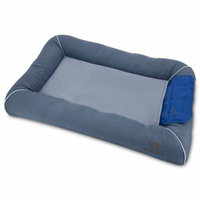 Best Pet Supplies, Inc.. Cooling Pet Bed with Removable Self-cool Gel Mat for Dog/Cat - Gray, Medium (30 x 21 x 4)
